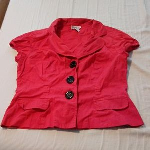 Robbie bee red SS career jacket size 12